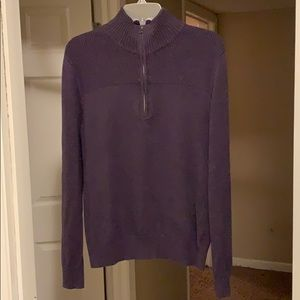 Purple Merona 1/4-zip sweater